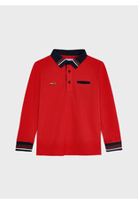 Mayoral Red Boys Long sleeve polo
