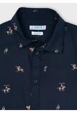 Mayoral Navy Cowboy Print T-Shirt