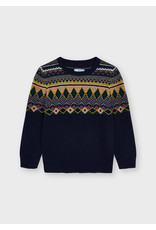 Mayoral Kids Navy Jaquard Sweater