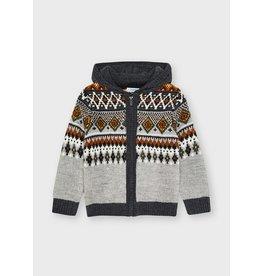 Mayoral Dove Knitting Zip Up w/Hood