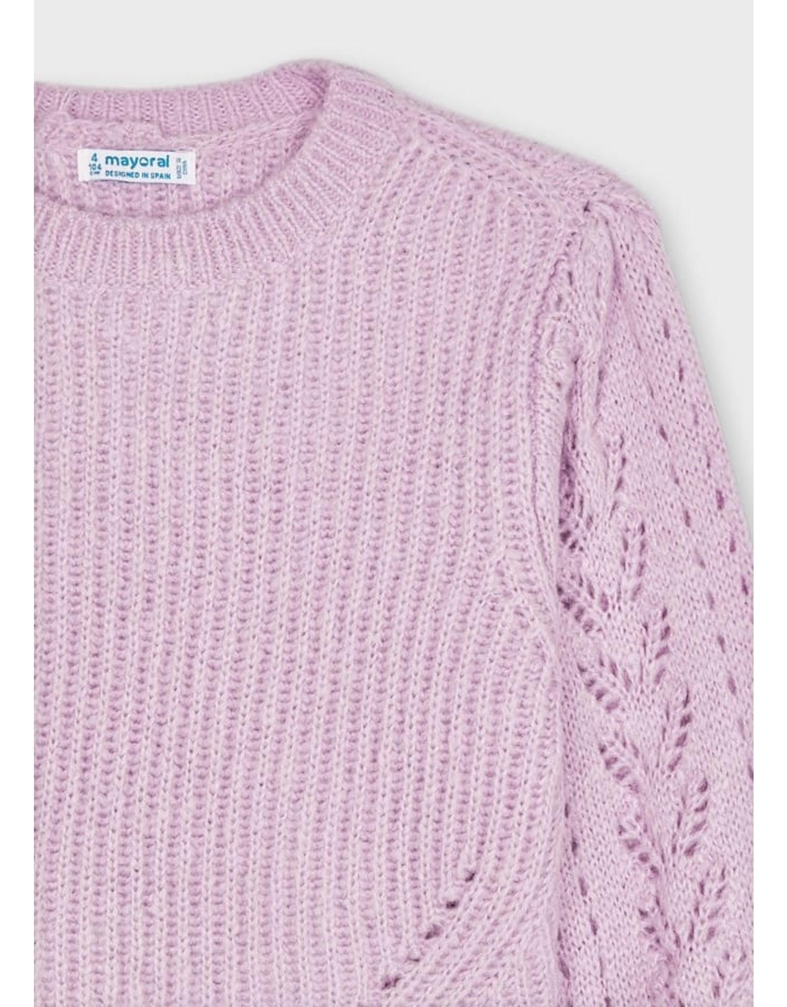 Mayoral Lilac Sweater with Headband