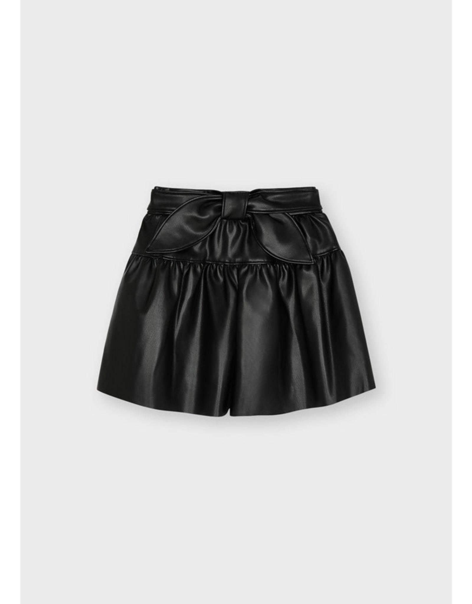 Mayoral Black Leathered Skirt