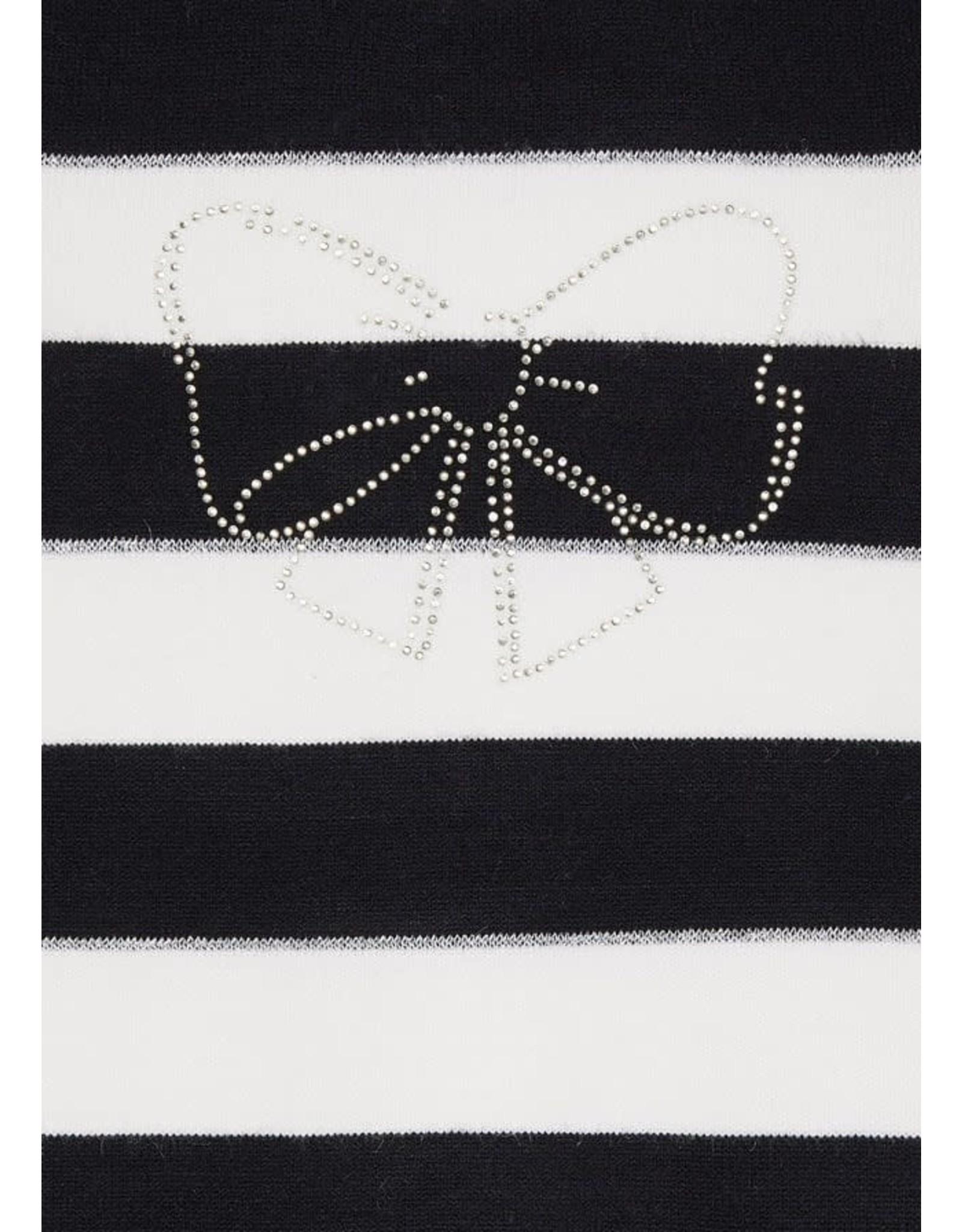 Mayoral Black Stripe Dress