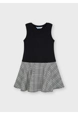 Mayoral Girls White/Grey Sweater/Dress Set