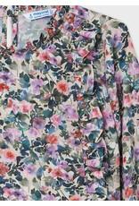 Mayoral Tween Lilac Printed Blouse
