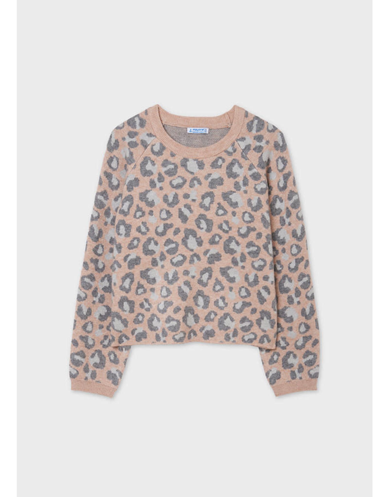 Mayoral Leopard Print Sweater - Makeup