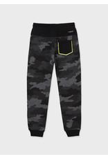 Mayoral Fleece Camo Trousers - Metal