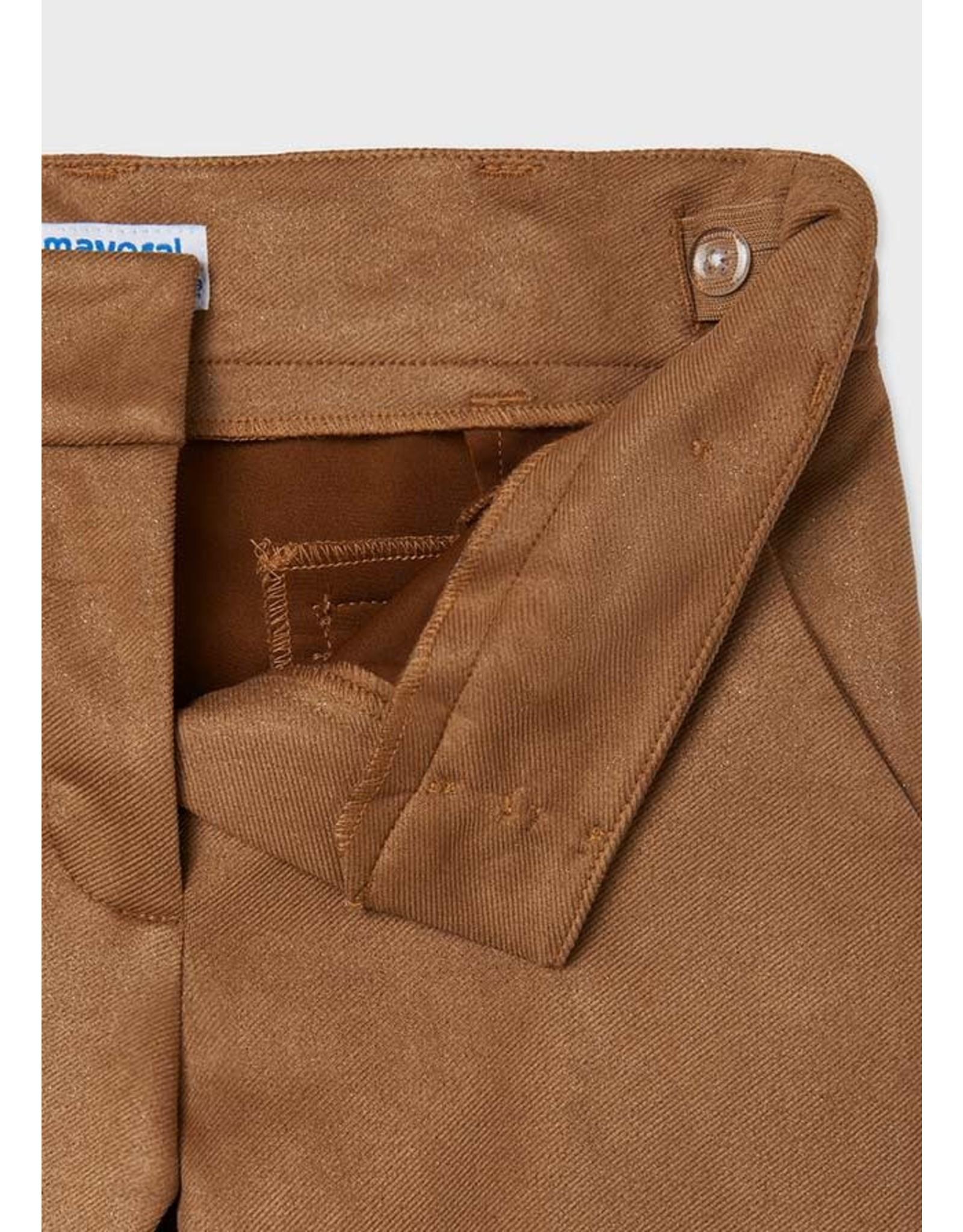 Mayoral Coffee Twill Long Pants