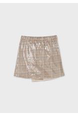 Mayoral Plaid Sequen Skirt