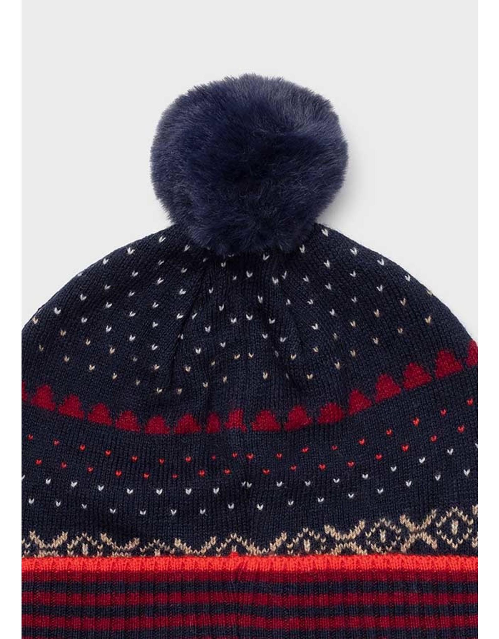 Mayoral Bordeaux Hat-Scarf set