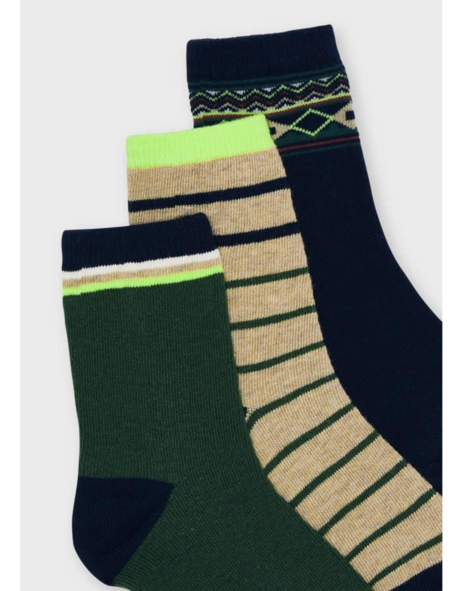 Mayoral Kale Socks Set (3 pairs)