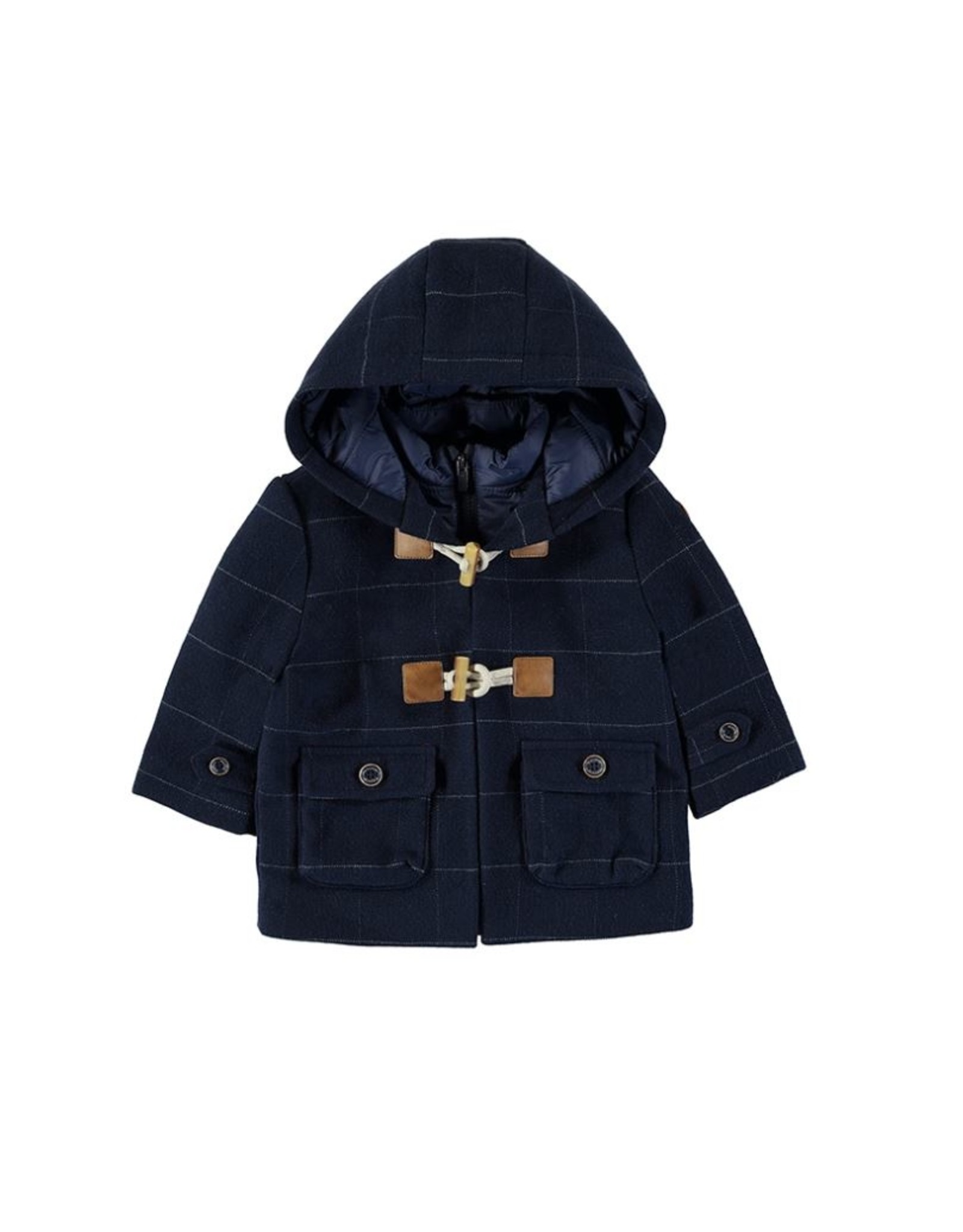 Mayoral Boys Duffle Trenchcoat in Blue