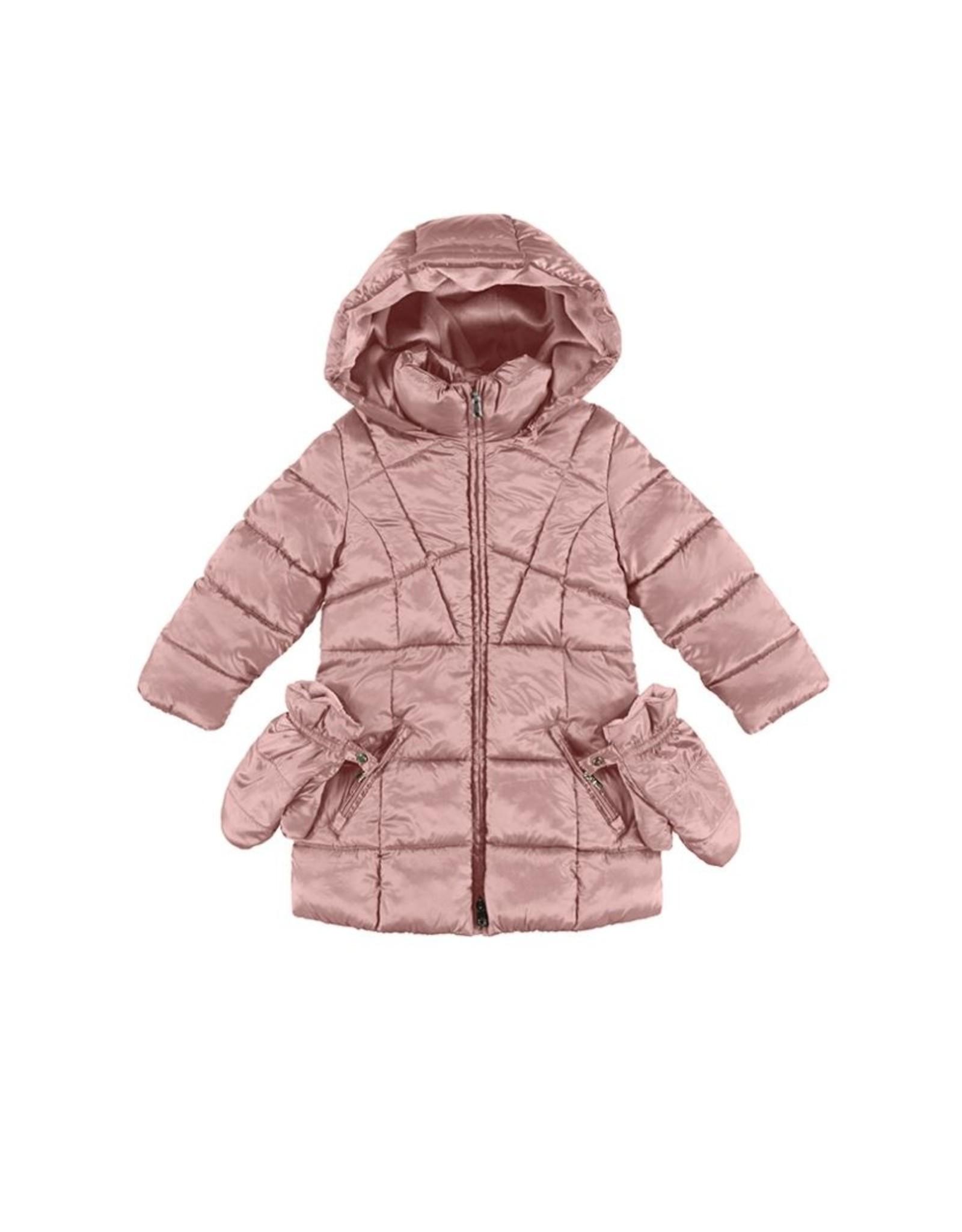 Mayoral Blush Coat w/Mittens