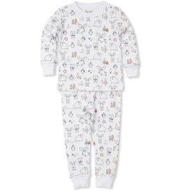 Kissy Kissy Moose Mania Silver Pajama Set