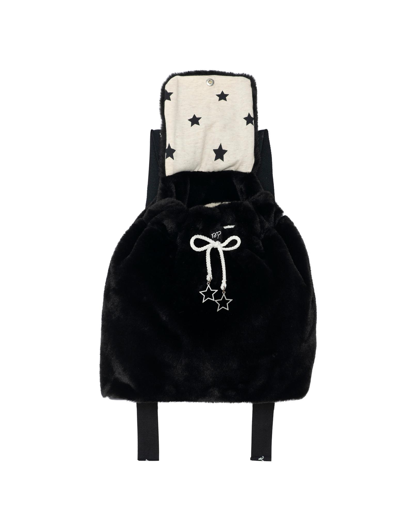Deux Par Deux Anthracite Fake Fur Back Pack