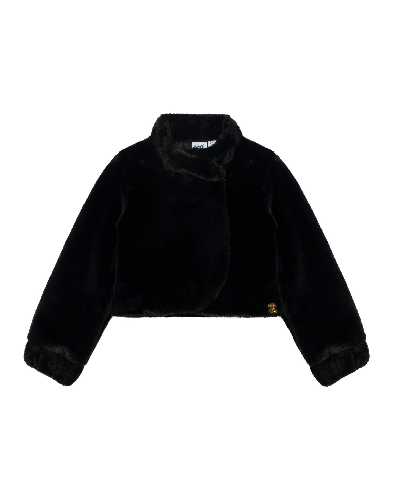 Deux Par Deux Anthracite Fake Fur Jacket