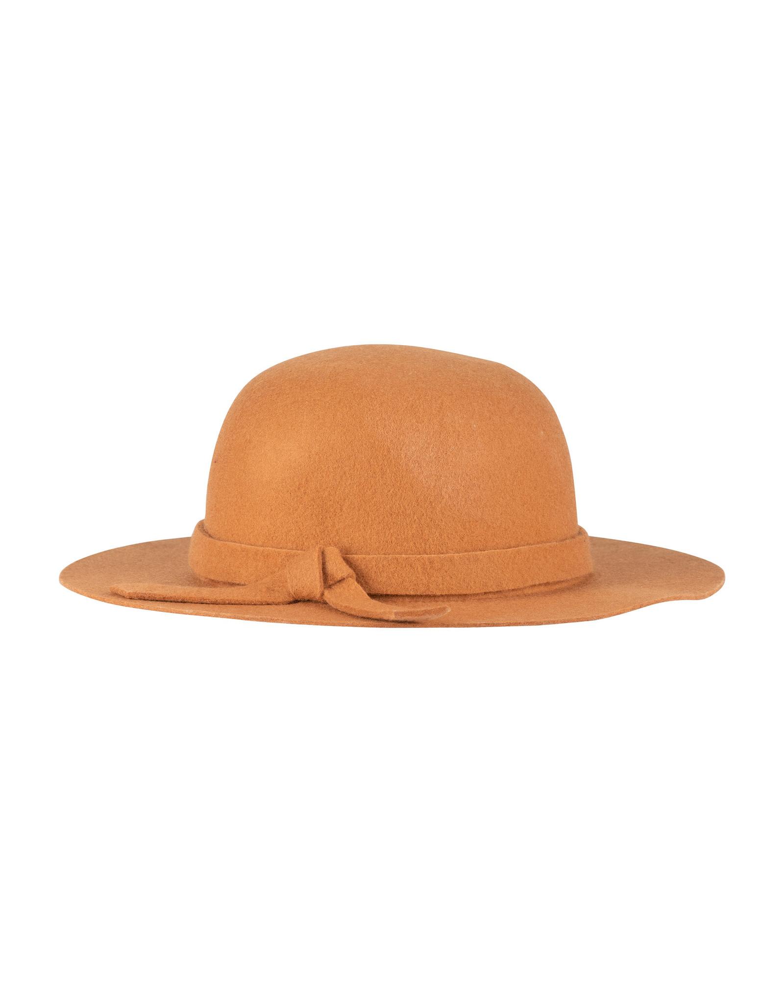 Deux Par Deux Golden Oak Felt Hat