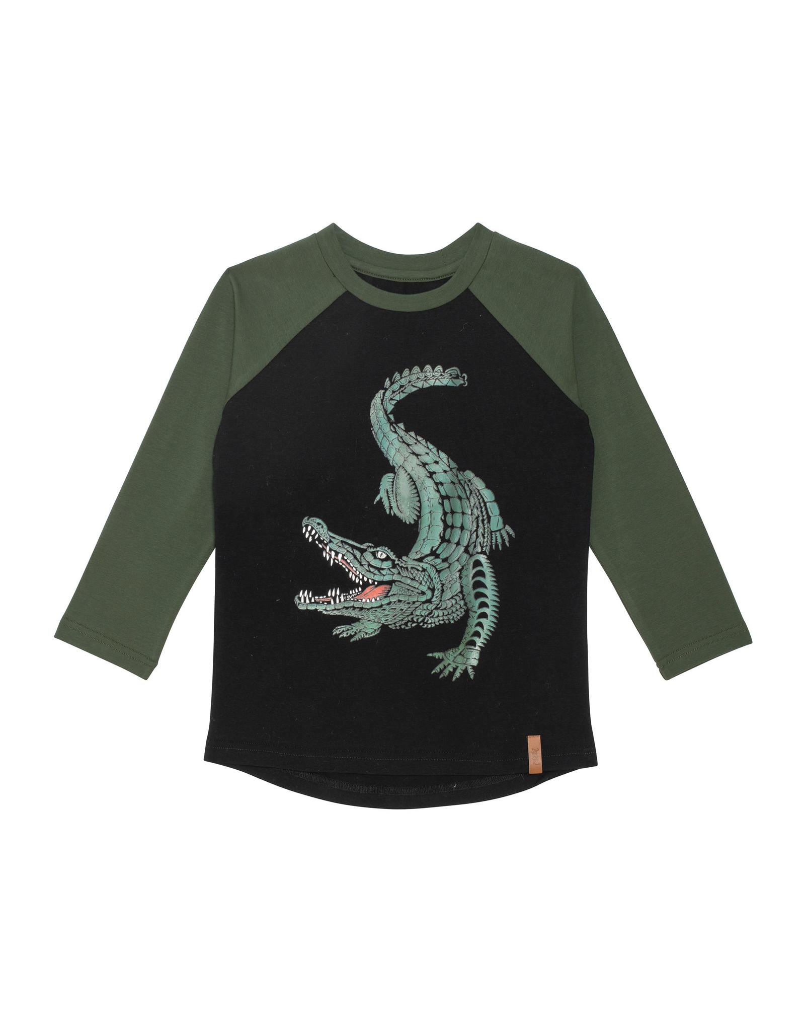Deux Par Deux Bistro Green Alligator T-Shirt
