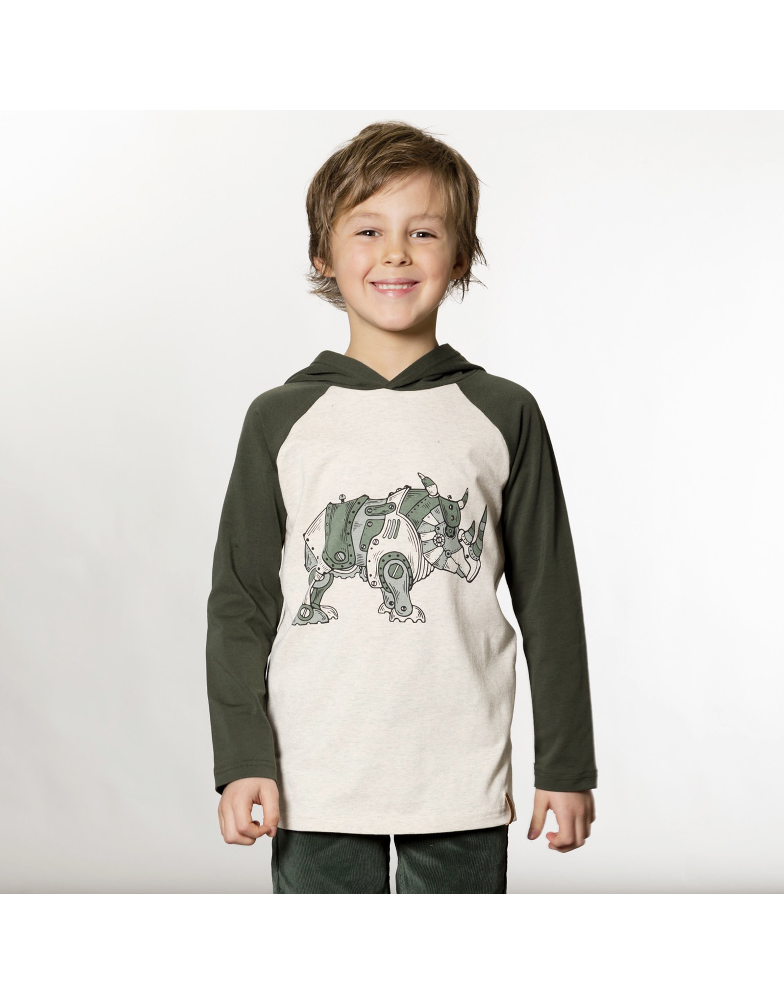 Deux Par Deux Hooded Rhino T-Shirt