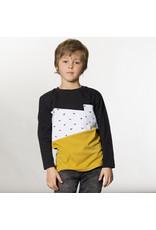 Deux Par Deux Charcoal Dino T-Shirt with Pocket