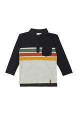 Deux Par Deux Stripe Polo with Pocket