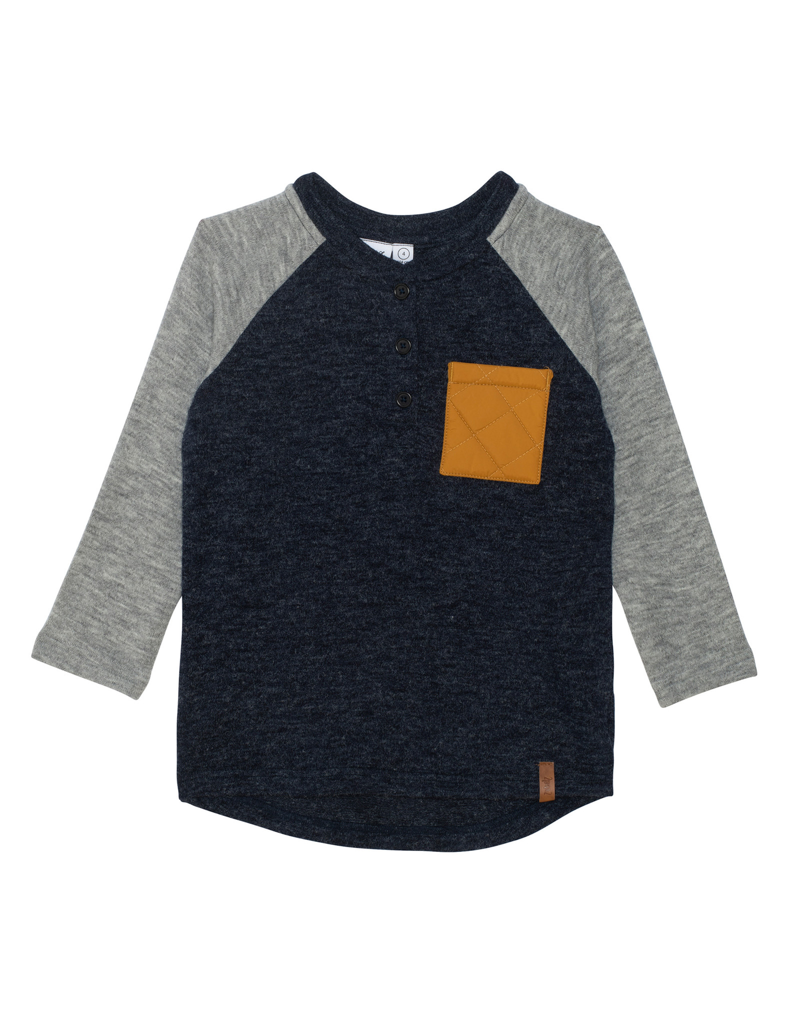 Deux Par Deux Iris Ranglan T-Shirt with Pocket