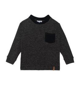 Deux Par Deux Charcoal Long Sleeve with Pocket