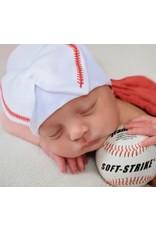 ilybean Nursery Beanie - Softball Bow