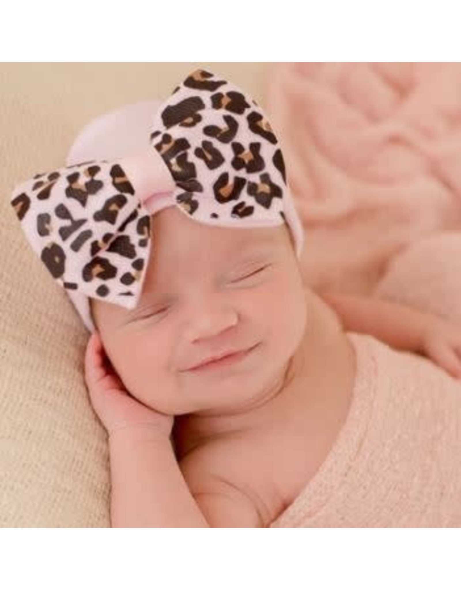 ilybean Nursery Beanie - Pink Lucy Leopard