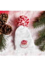 "ilybean Nursery Beanie - Striped Santa ""My First Christmas"""