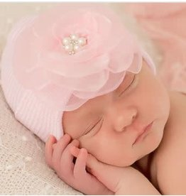 ilybean Nursery Beanie - Pink Joyce Flower