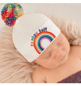 ilybean Nursery Beanie - Rainbow Baby with Pom