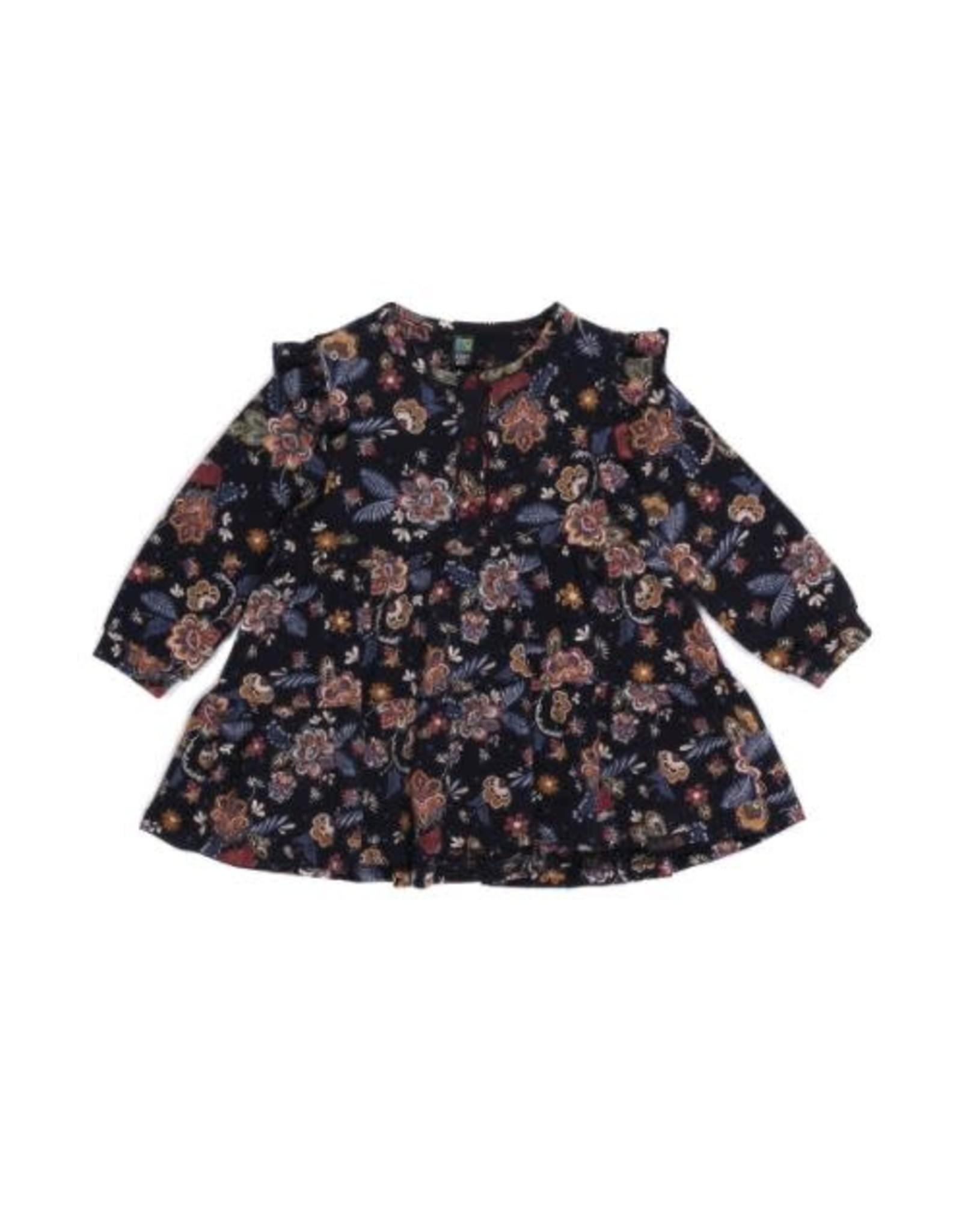 Noruk Girls Navy Floral Dress