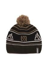 Noruk Olive Knit Hat w/Pom
