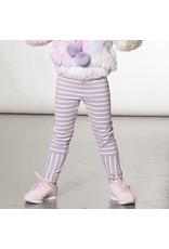 Deux Par Deux Lilac Striped Legging