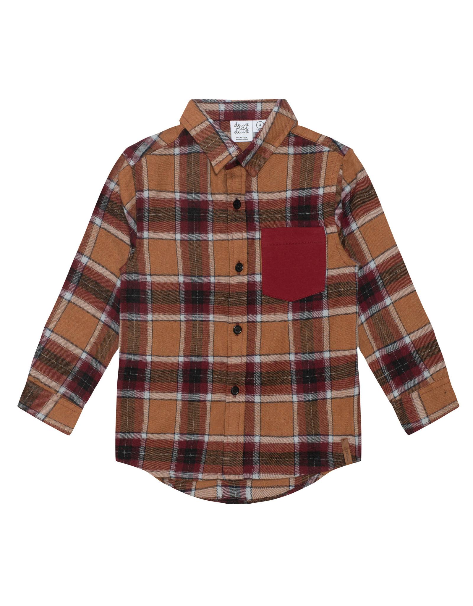 Deux Par Deux Fall Plaid Shirt w/Pocket