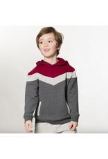 Deux Par Deux Hooded Fleece Top w/Pocket