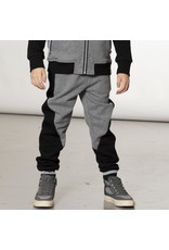 Deux Par Deux Black/Grey Contrast Quilted Sweatpants