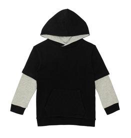 Deux Par Deux Anthracite Fleece Hooded Top w/Pocket