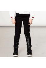 Deux Par Deux Anthracite Milano Tregging w/Fake Leather Inset