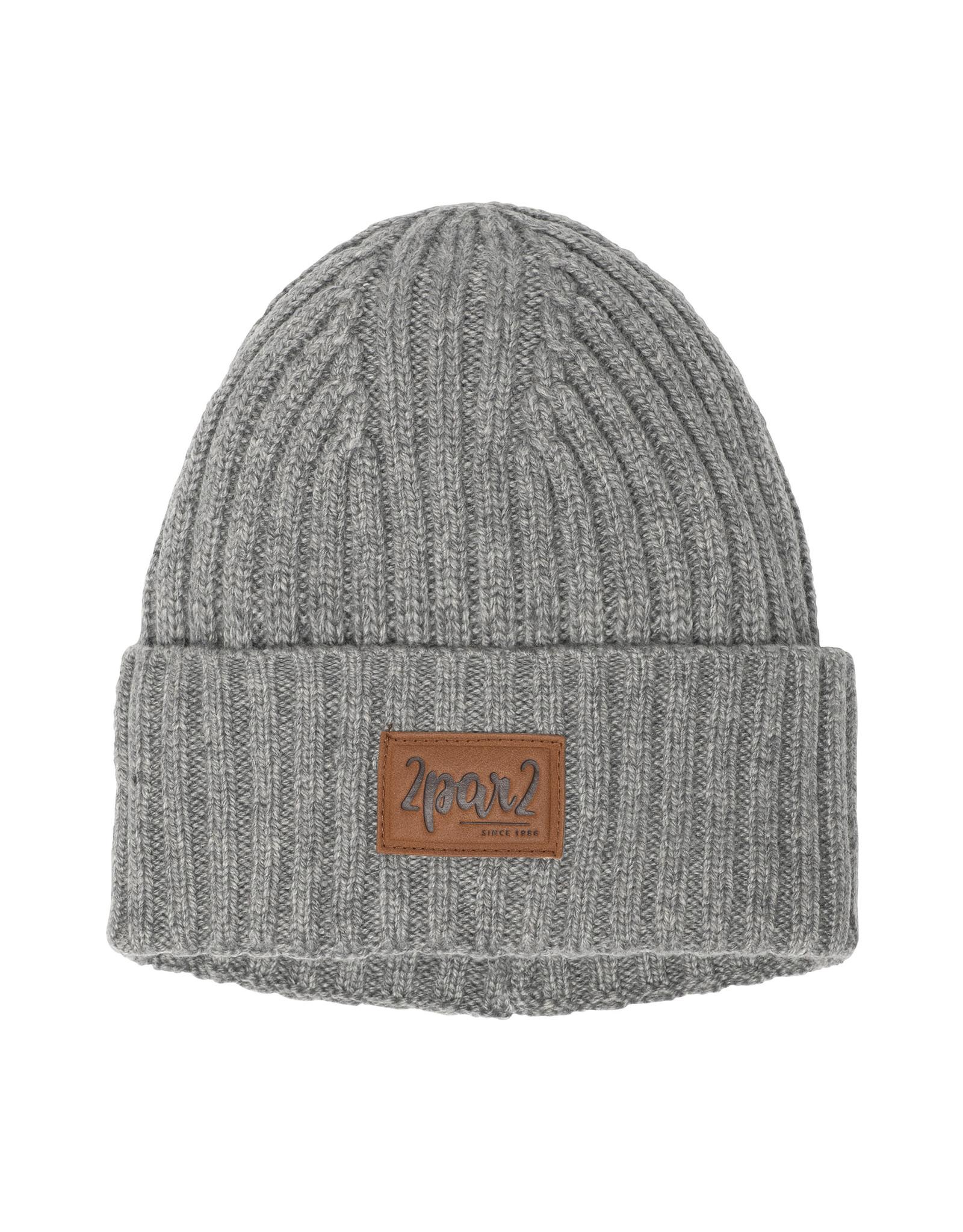 Deux Par Deux Grey Mix Knitted DPD Hat