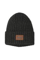 Deux Par Deux Anthracite Knitted Hat