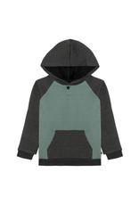 Deux Par Deux Quilted Hooded Top w/Pocket