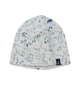 Deux Par Deux Woodland Blue Printed Hat