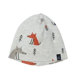 Deux Par Deux Fox Printed Hat