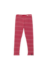 Deux Par Deux Rio Red Striped Rib Legging