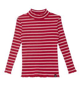 Deux Par Deux Rio Red Striped Rib Top