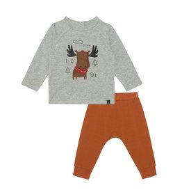 Deux Par Deux Moose Top & Pant 2 Pc Set