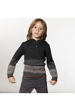 Deux Par Deux Charcoal Hooded Knit Sweater