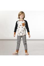 Deux Par Deux Construction Pajama Set (2pc)